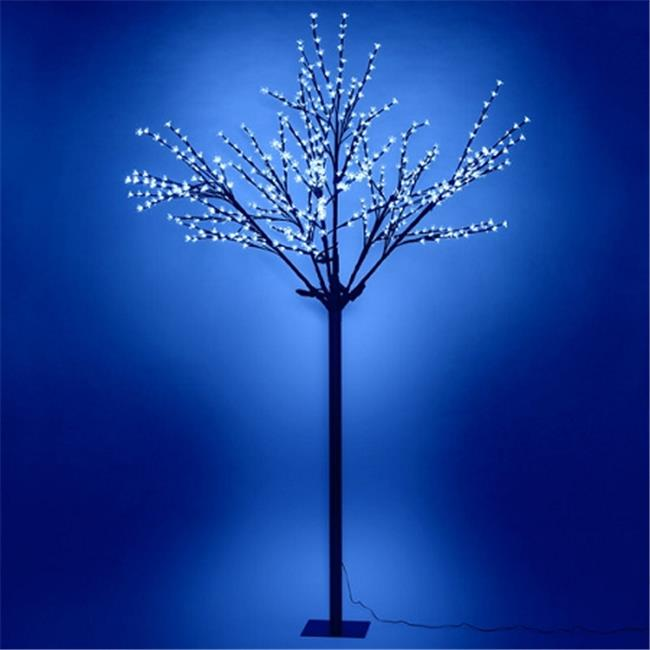 Queens of Christmas CH-108BL-06-24V CH-108BL-06-24V - 6 tall Blue Cherry tree with 108 LEDs