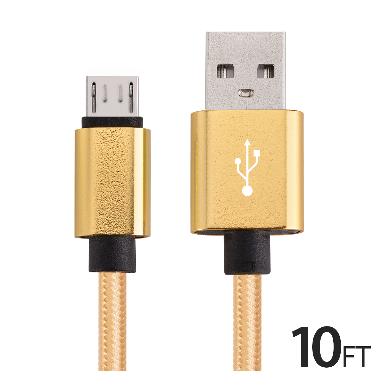 Micro USB Cable Charger for Android, FREEDOMTECH 10ft USB to Micro USB Cable Charger Cord High Speed USB2.0 Sync and Charging Cable for Samsung, HTC, Motorola, Nokia, Kindle, MP3, Tablet and more