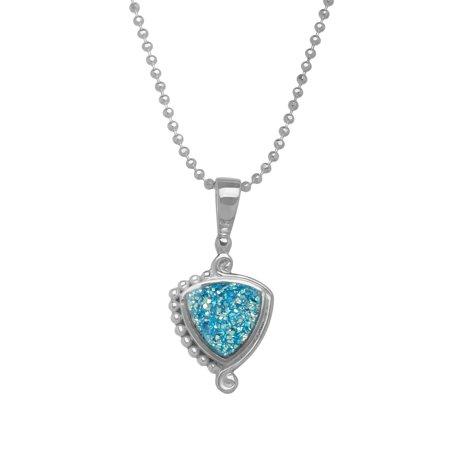 Sajen paraiba druzy pendant necklace in sterling silver plate sajen paraiba druzy pendant necklace in sterling silver plate aloadofball Image collections