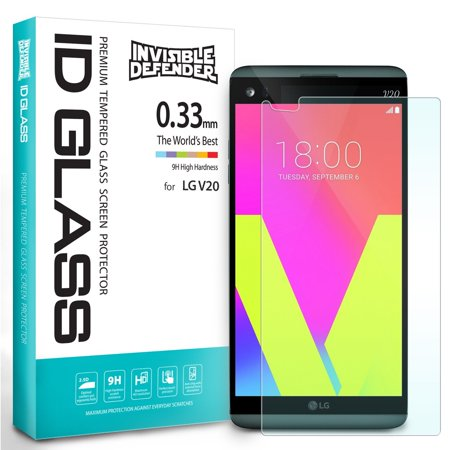 LG V20 Screen Protector - Invisible Defender Glass [0.33 mm TEMPERED GLASS] Ultimate Clear Shield, High Definition (HD) Quality, Anti-Scratch Technology - 033 Glasses