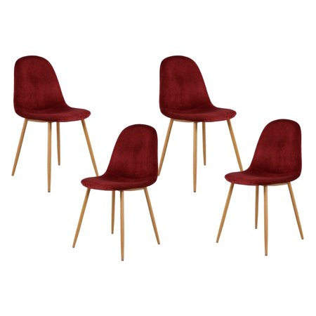 Best Master Furniture Morgan Velvet Side Chairs-Set of 4, (Best Place For Used Furniture)
