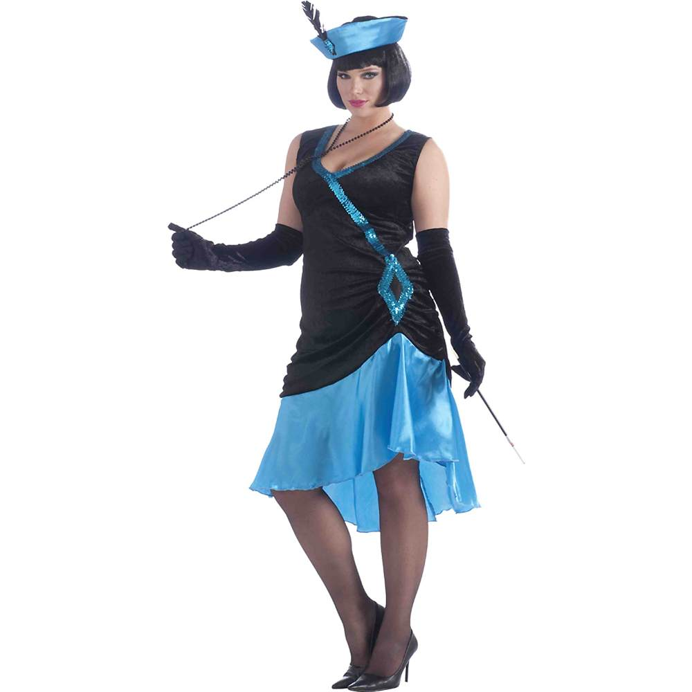 Betty Blue Flapper Plus Size Costume