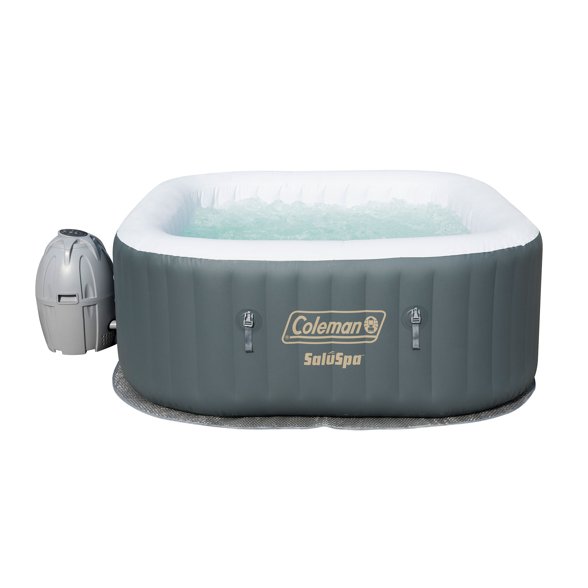 Coleman SaluSpa 4 Person Portable Inflatable Outdoor AirJet Spa Hot Tub, Gray by COLEMAN