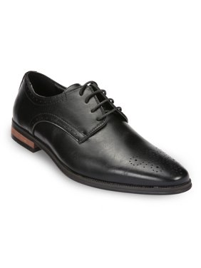Mio Marino Men's Pinned Oxford Dress Shoes