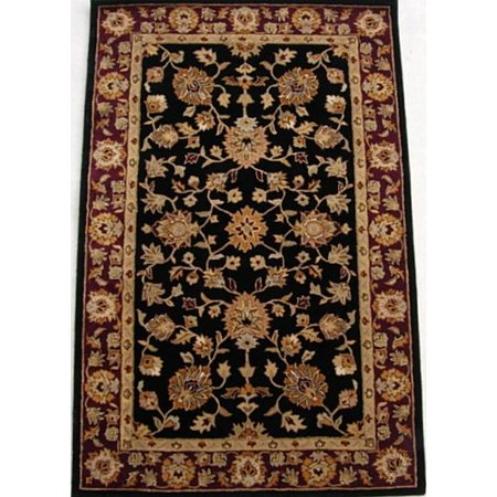 safavieh heritage black red area rug. Black Bedroom Furniture Sets. Home Design Ideas
