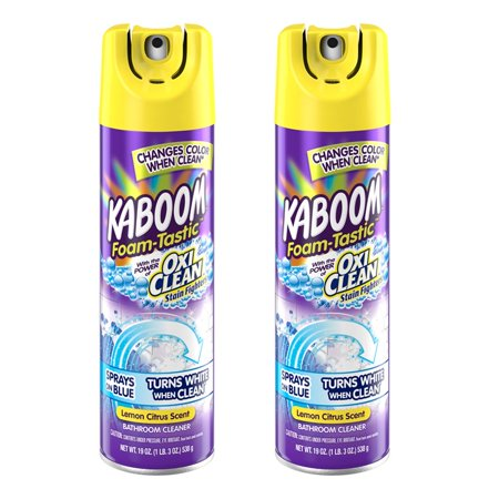 (2 Pack) Kaboom⢠Foam-Tastic⢠Lemon Citrus Scent Bathroom Cleaner 19 oz. Aerosol -