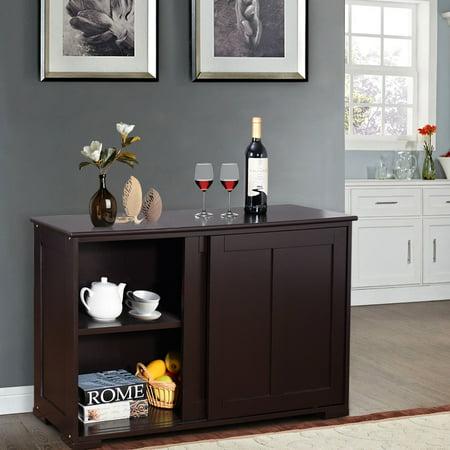 Kitchen Storage Cabinet Sideboard Buffet Cupboard Wood ...