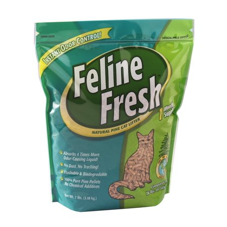 Pelleted Pine Cat Litter 7 Lbs By Feline Fresh Ship From Us