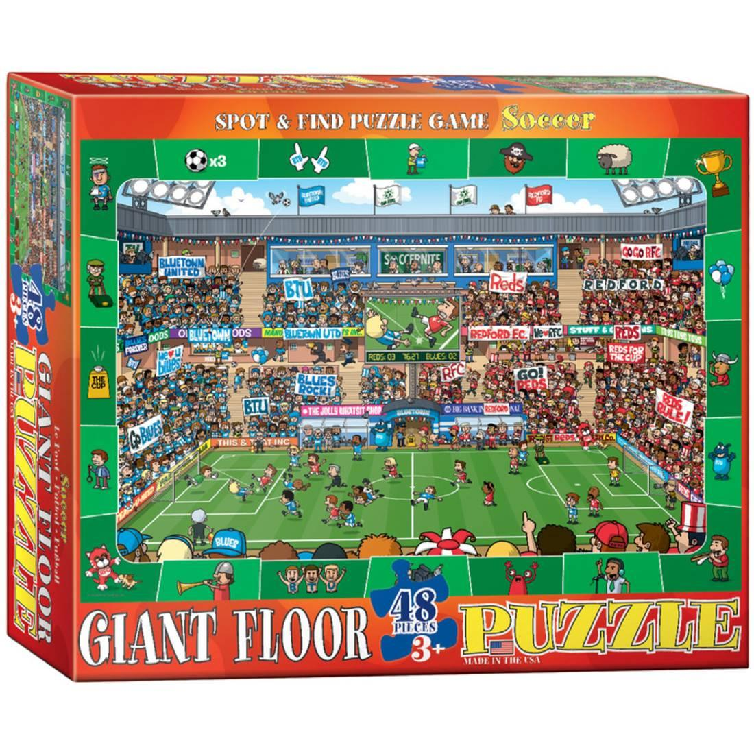 Euro Graphics 8048-0476 Spot & Find Soccer 48-Piece Floor Puzzle