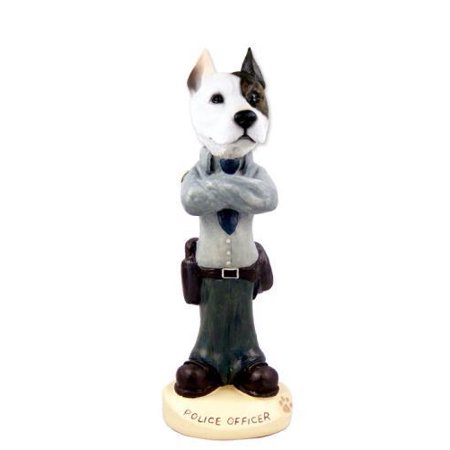 Pit Bull Terrier Police Doogie Collectable Figurine