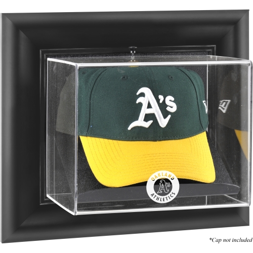 Oakland Athletics Fanatics Authentic Black Framed Wall-Mounted Logo Cap Display Case - No Size