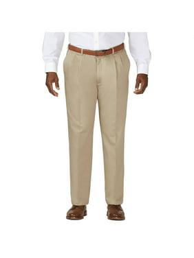 Haggar Men's Big & Tall Work to WeekendKhaki Pleat Pant Classic Fit 41714957524