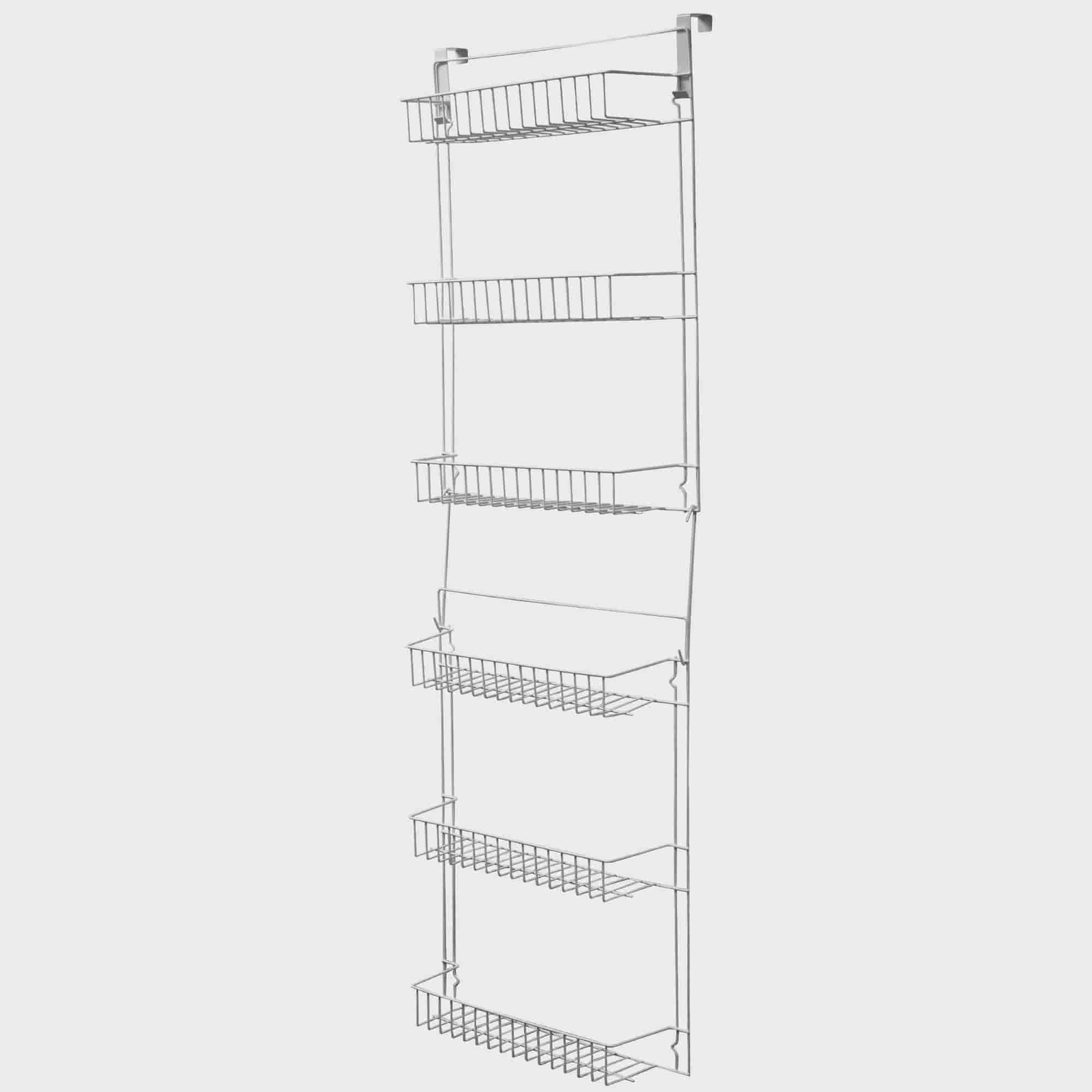 Closet Organizer w  6 Shelves, Over the Door Pantry Organizer and Bathroom Organizer by... by Trademark Global LLC