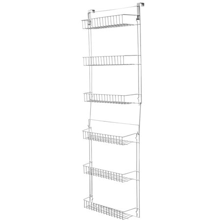 Closet Organizer w/ 6 Shelves, Over the Door Pantry Organizer and Bathroom Organizer by Lavish Home ()