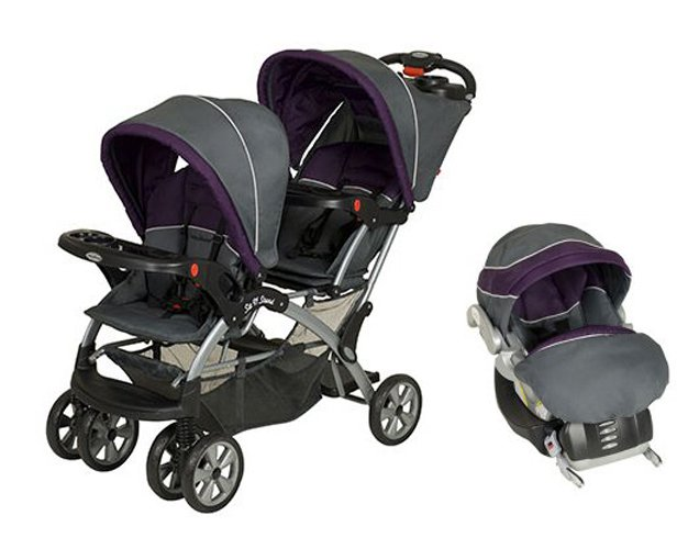 Baby Trend Sit N Stand Double Travel System Stroller & Car Seat Elixer by Baby Trend