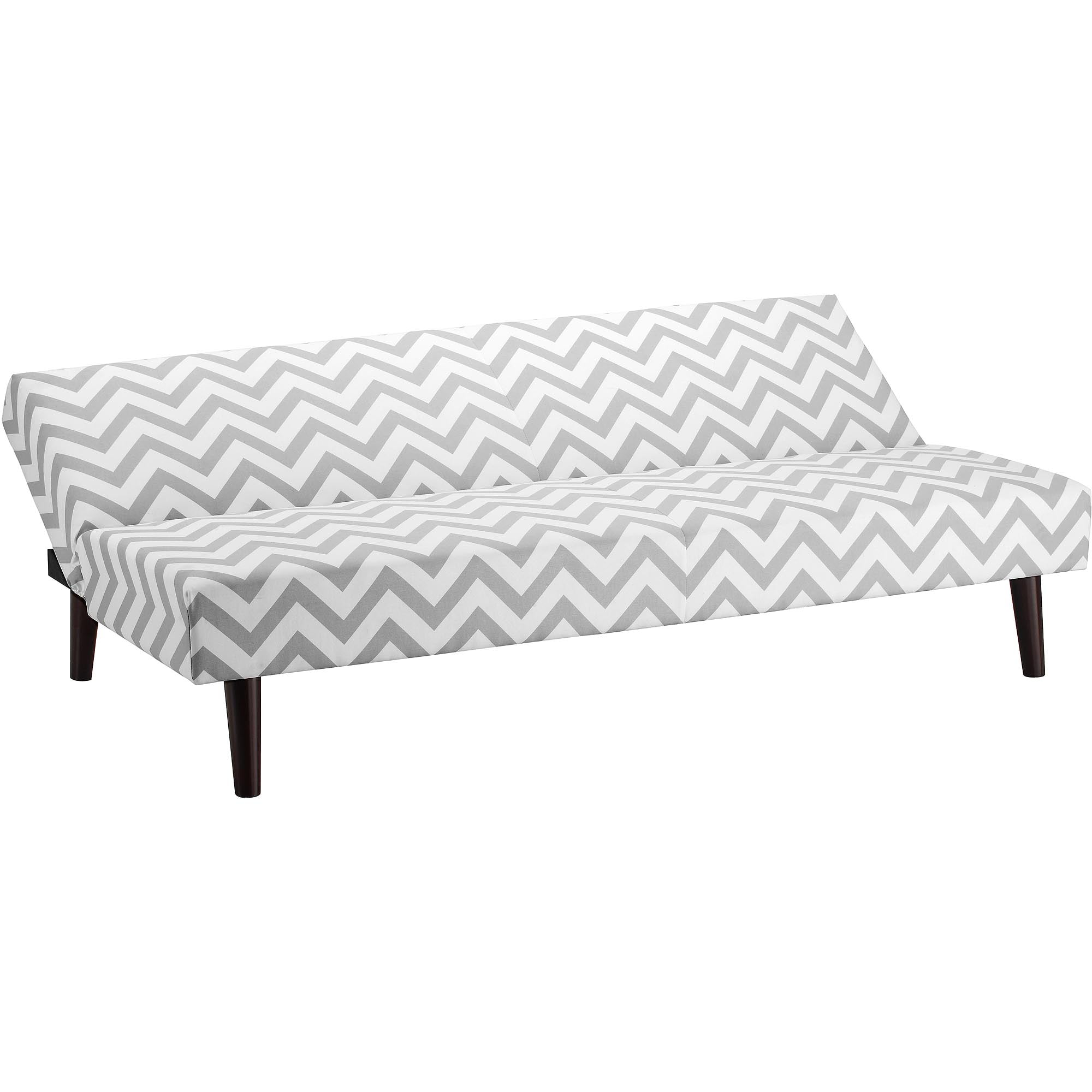 Kinsley Chevron Futon with Optional Pieces Gray Walmart