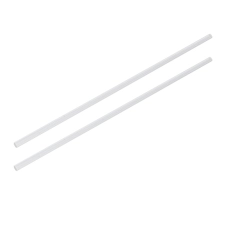 5mm Dia 10 Inch Long Solid Acrylic Round Rod PMMA Bar Clear - Solid Round Bar