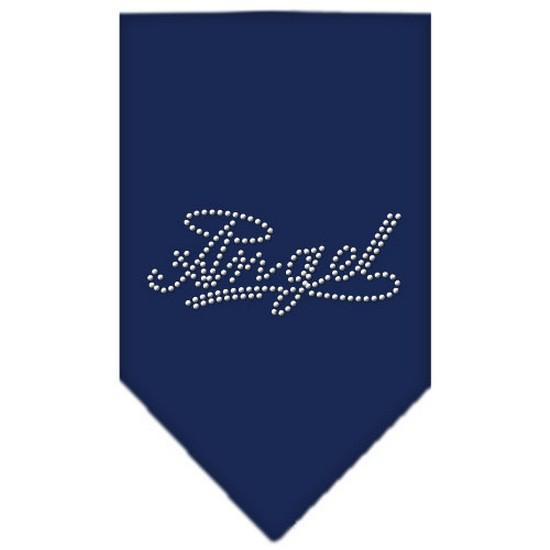 Angel Rhinestone Bandana Navy Blue Small