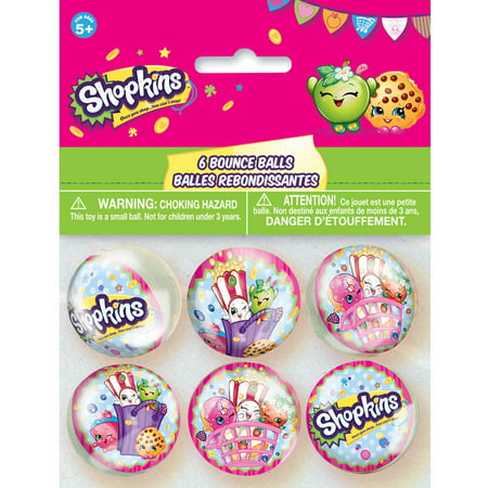 Shopkins Bouncy Balls Party Favors  6Ct
