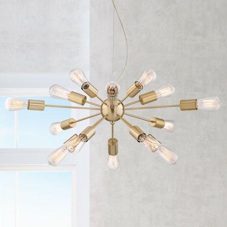 Possini Euro Design Hemingson 33 Wide Gold 15 Led Sputnik Pendant Light
