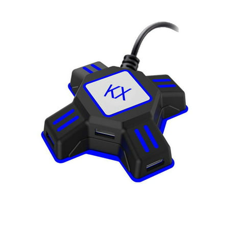 KX USB Game Controller Converter Keyboard Mouse Adapter for Switch/Xbox/PS4/PS3 ()