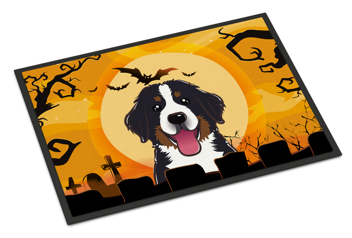 Halloween Bernese Mountain Dog Door Mat