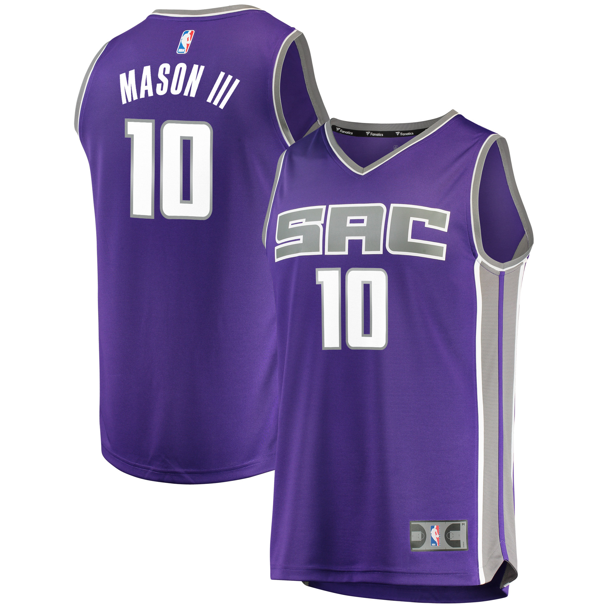 Frank Mason III Sacramento Kings Fanatics Branded Fast Break Road Replica Player Jersey - Purple