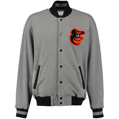 Men's G-III Sports by Carl Banks Heathered Gray Baltimore Orioles Classic Fleece Jacket by