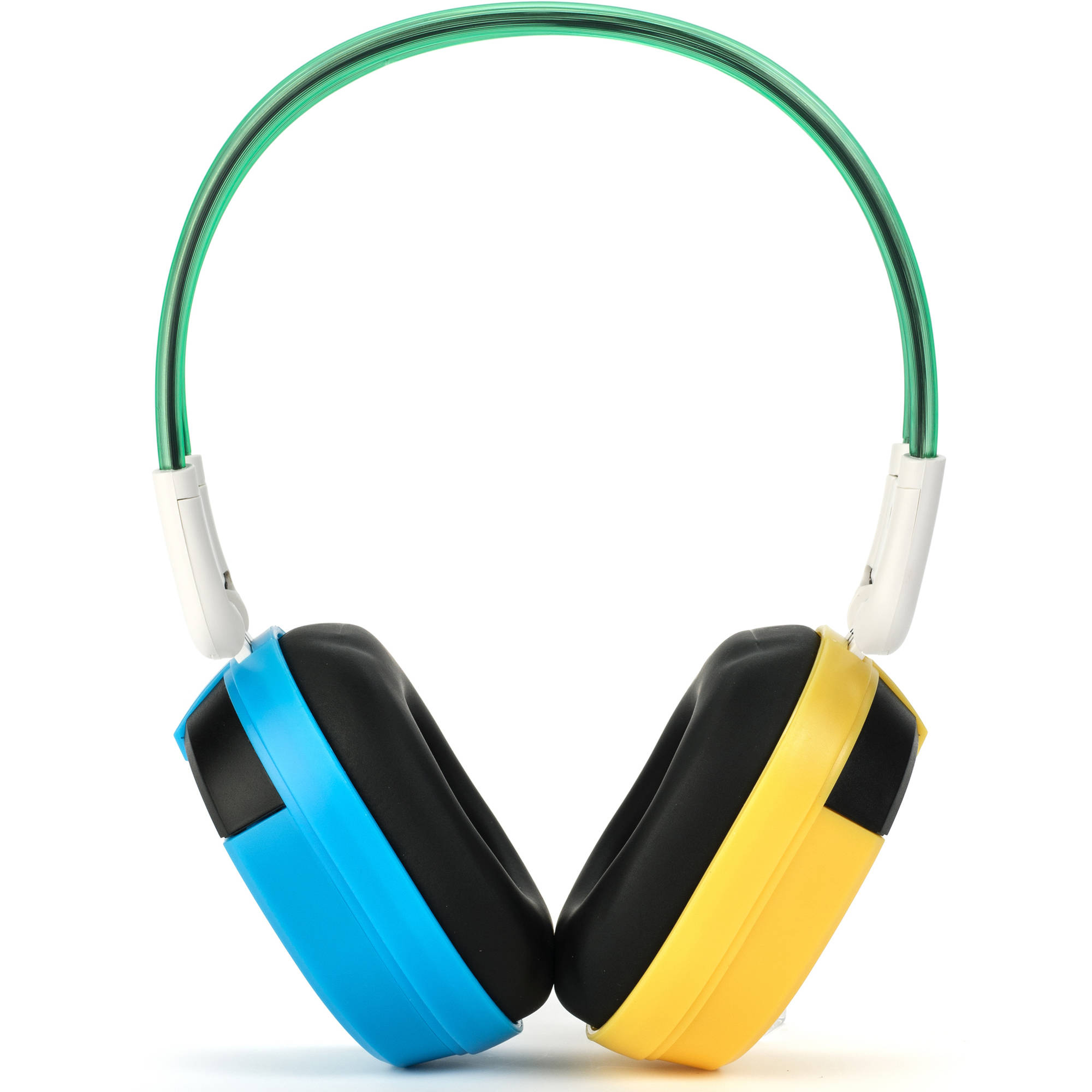 Bravo View IH-03A MKII - KID FRIENDLY Automotive IR Wireless Headphones (Blue/Yellow)