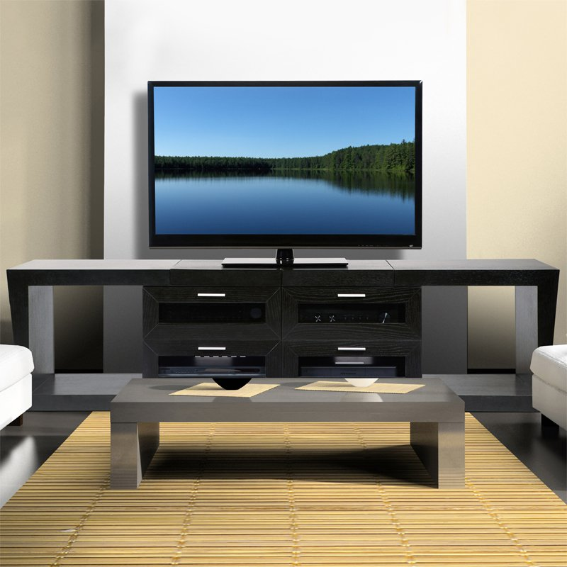 Plateau Valencia Expandable TV Stand in Black