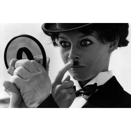Brigitte Bardot in Charlie Chaplin costume for Viva Maria Photo Print (Charlie Chaplin Costumes)