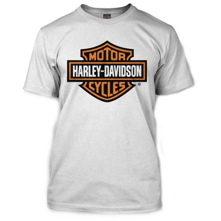 81200e6e Harley-davidson - Men's Orange Bar & Shield White T-Shirt 30290590 - Walmart .com