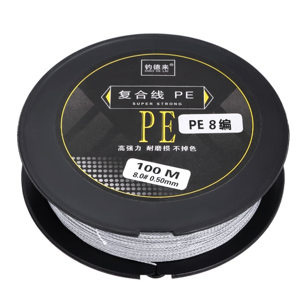 100m Fishing Line Strong Abrasion 8 Strands Braided Pe Fishing Line Walmart Com Walmart Com