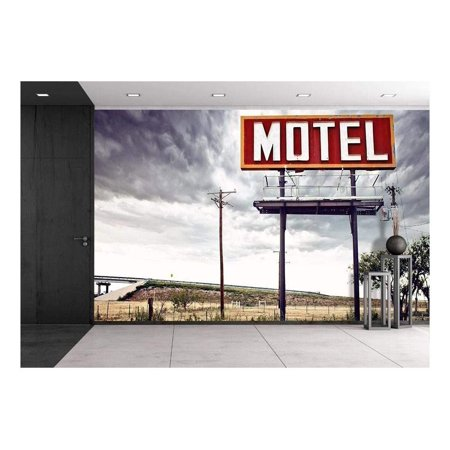 wall26 - Old Motel Sign on Route 66 USA - Canvas Art Wall Decor - 66