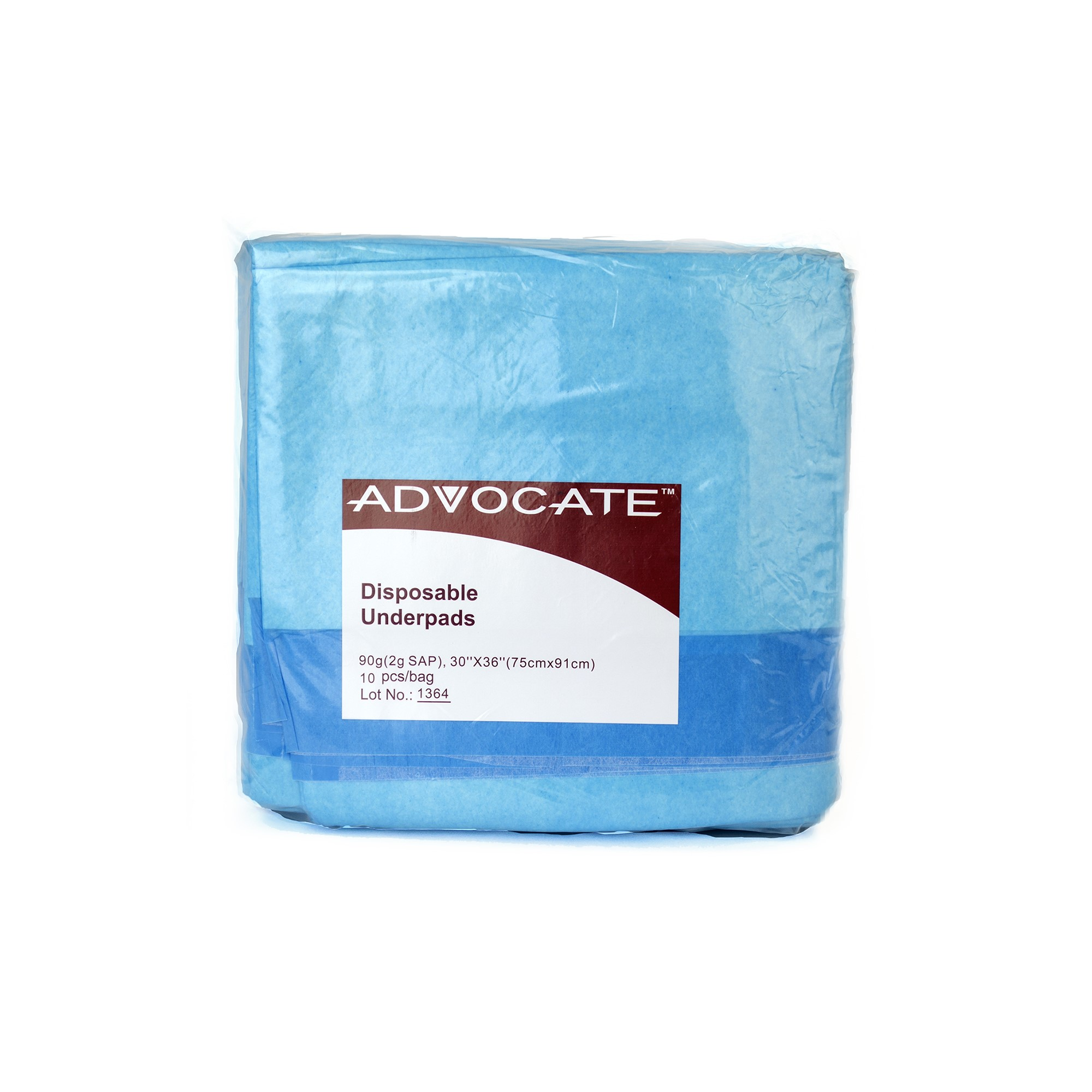Advocate Disposable Underpads, 3.2 Oz, 10 Ct