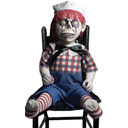 Andy Halloween (Dandy Andy Frightronic Rocking Haunted Doll Prop Halloween Decoration)