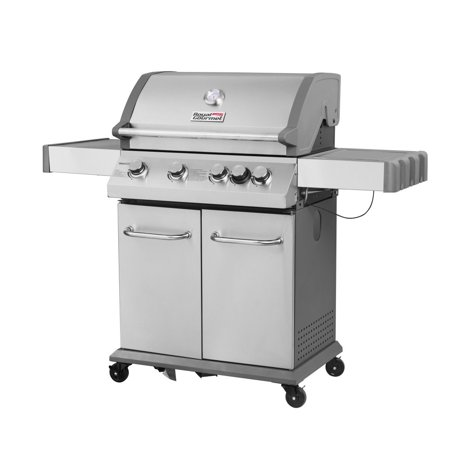 (Royal Gourmet SG4002 4-Burner BBQ Propane Gas Grill with Side Burner Stainless Steel)