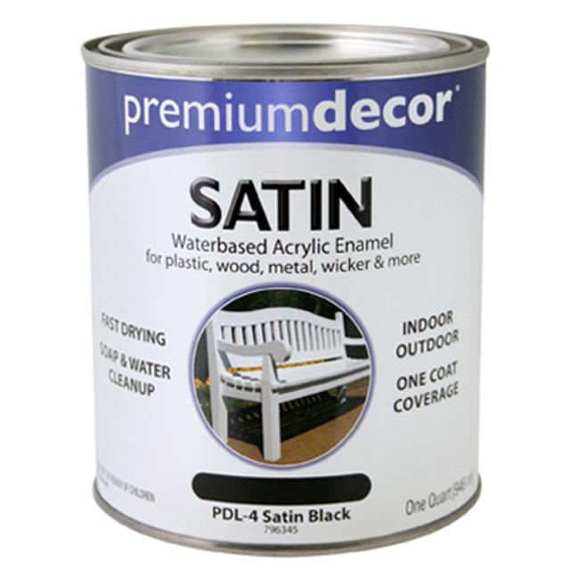 True Value Mfg Company PDL4-QT PD Black Waterborne Satin Enamel
