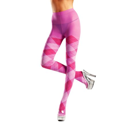 Plus Size Full Figure Classic Pink Argyle Tights - Tweens In Tights