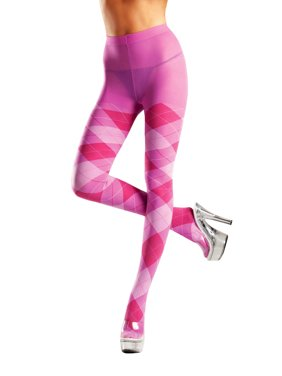 1fa2fdaddc Product Image Plus Size Full Figure Classic Pink Argyle Tights Hosiery. Be  Wicked