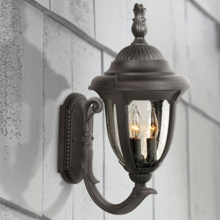- John Timberland Traditional Outdoor Wall Light Fixture Carriage Style Upbridge Black 19 1/8