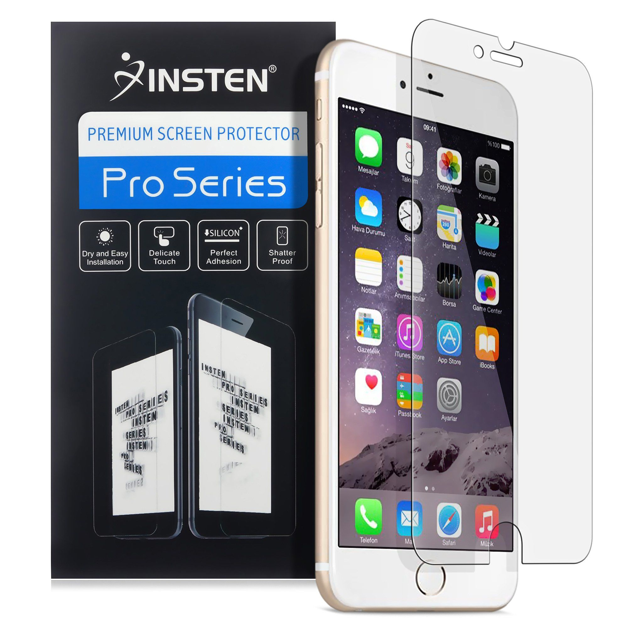 """Insten Screen Protector For iPhone 8 Plus / iPhone 7 Plus (5.5"""") Film Guard Clear Transparent LCD Front , Bubble-free, High-definition,  Anti-Scratch"""