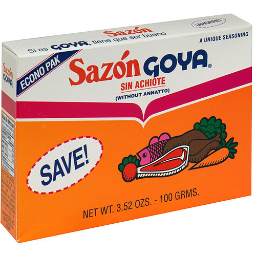 Goya Sazon Flavor Packet Without Annatto, 3.52 oz (Pack of 18)
