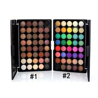 40 Colors High Pigmented Shimmer Matte Eyeshadow Makeup Palette Set Full Spectrum Artist Waterproof Creamy Blendable Eye Shadow Cosmetics Kit (1 Set)