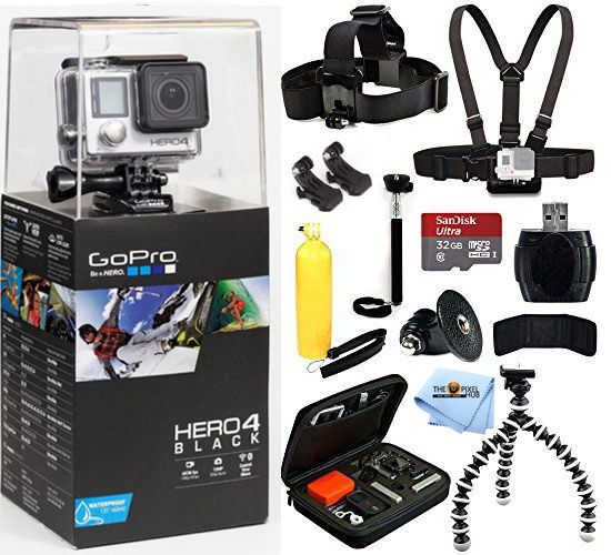 UNASSIGNED GoPro HERO4 Black Edition With 32GB Sandisk 12...