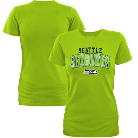Seattle Seahawks NFL Pro Line by Fanatics Branded Women's Showtime Square Up T-Shirt - Neon (Best Pho In Seattle Area)