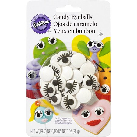 Wilton Edible Candy Eyeballs W/ Eyelashes; Cake Cookie Cupcake Icing Decorations, These Wilton Candy Eyeballs Are Excellent For Parties. By Unknown - Halloween Cookie Eyeballs Recipe