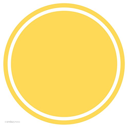 Yellow Solid Color Circle Gift Labels, 40-Pack