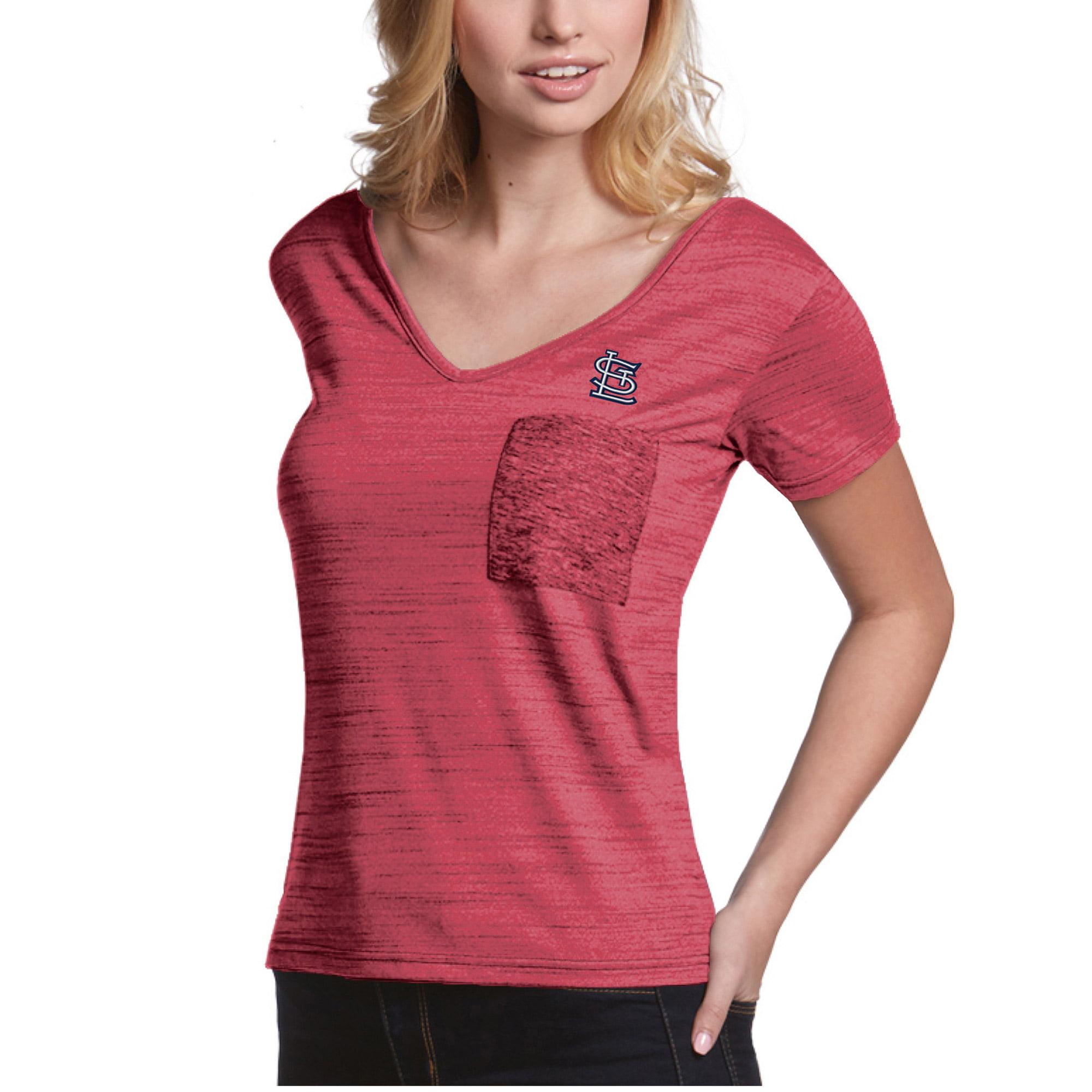 St. Louis Cardinals Antigua Women's Form Pocket T-Shirt - Red