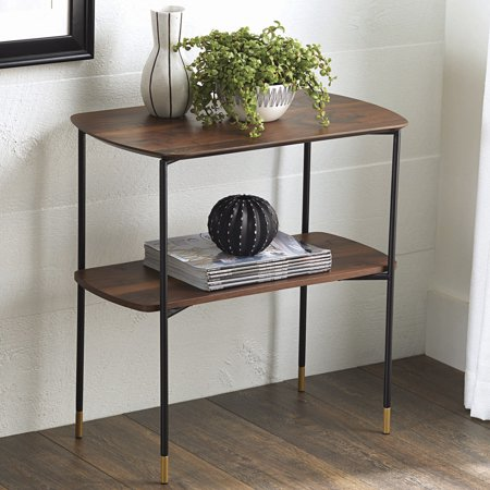Walnut Accent (Better Homes and Gardens Montclair 2 Shelf Accent Table, Vintage Walnut Finish )